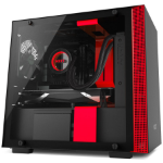 NZXT H200 Mini-Tower Black, Red computer case