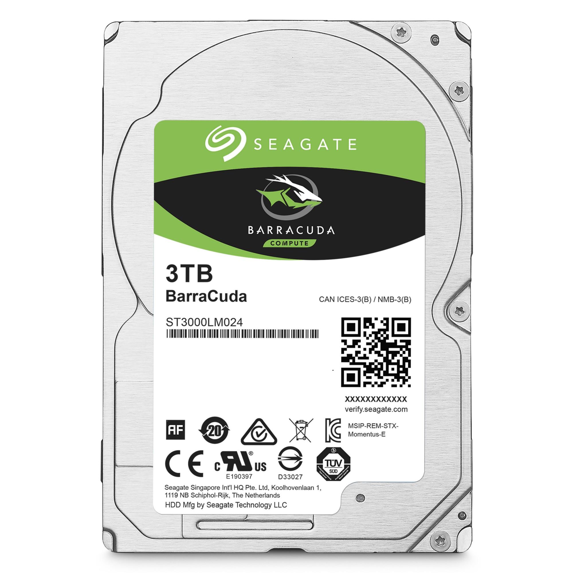 "Seagate Barracuda 2.5"" 3000GB Serial ATA III internal hard drive"