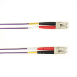 "Black Box FOCMR62-003M-LCLC-VT fiber optic cable 118.1"" (3 m) LC OFNR OM1 Violet"