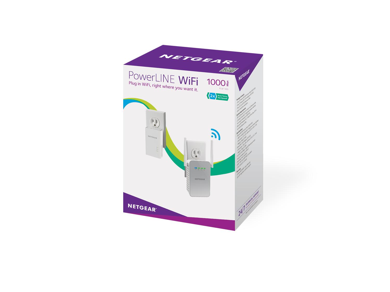 Netgear PowerLINE 1000 + WiFi 1000 Mbit/s Ethernet Blanco 2 pieza(s)