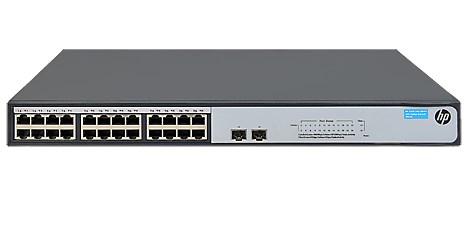 Hewlett Packard Enterprise 1420-24G-2SFP+ 10G Unmanaged L2 Gigabit Ethernet (10/100/1000) Grey