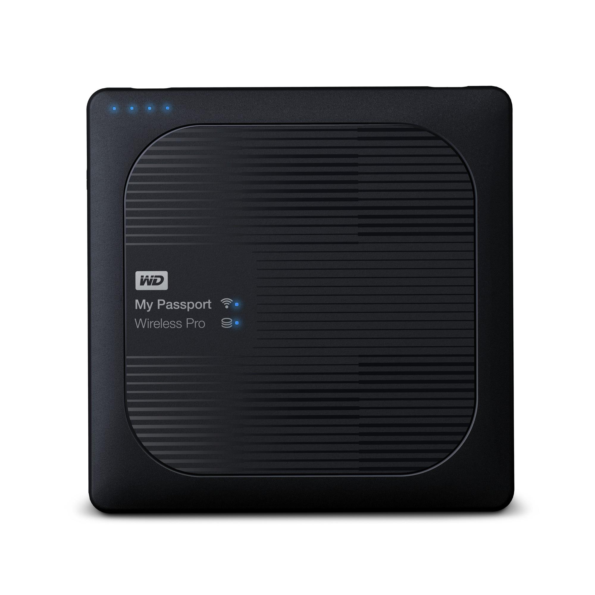 Western Digital My Passport Wireless Pro Wi-Fi 4000GB Black external hard drive