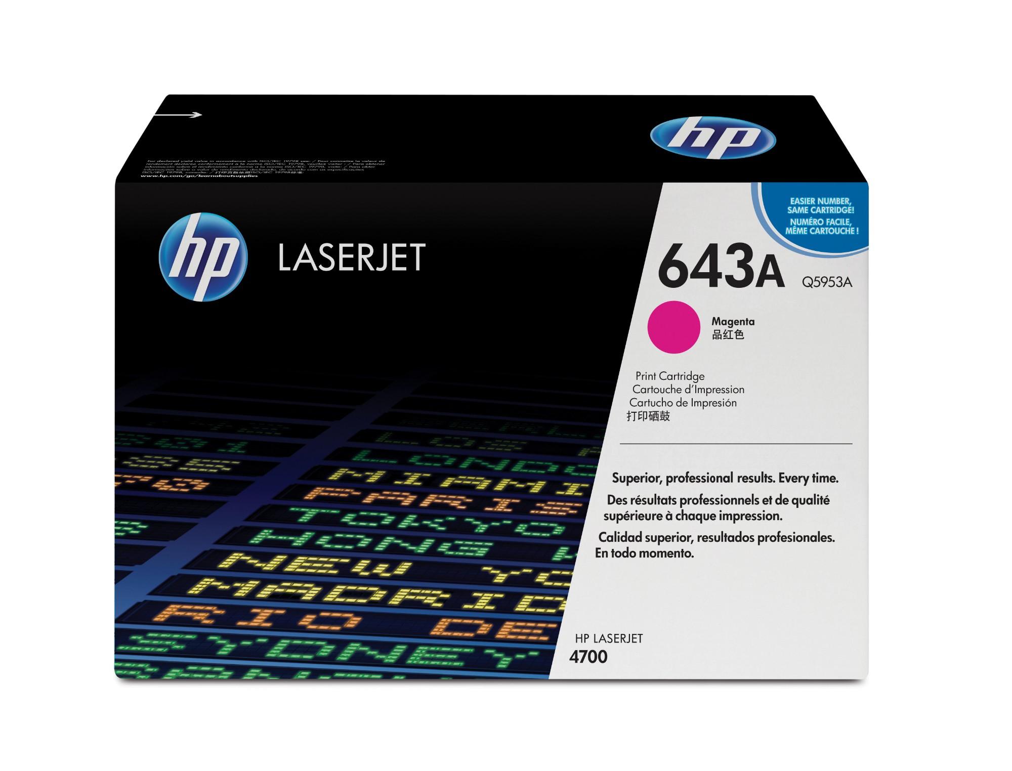 HP 643A Origineel Magenta 1 stuk(s)