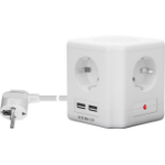 Microconnect GRUCUBE6 power extension 1.5 m 4 AC outlet(s) Indoor White
