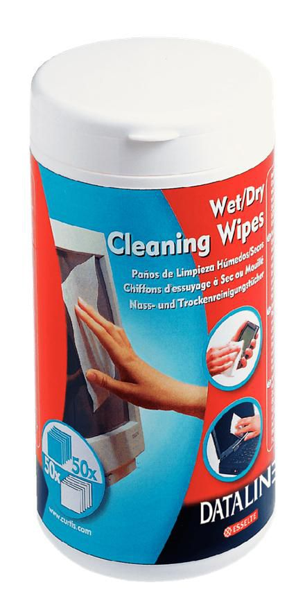 Esselte Wet & dry wipes for cleaning