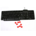 SPIRE LK850 Wired Keyboard, USB/PS2, Multimedia, Red Gamer Keys, Retail