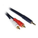 C2G 1m Velocity 3.5mm Stereo Male to Dual RCA Male Y-Cable cable de audio 3,5mm 2 x RCA Negro