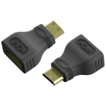 Vision TC-MHDMIHDMI cable interface/gender adapter Mini-HDMI HDMI Schwarz