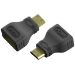 Vision TECHCONNECT MINI-HDMI TO HDMI ADAPTOR Engineered connectivity solution, Black, Plugs into Mini-HDMI