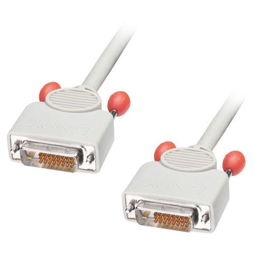 Lindy 0.5m Dual DVI-D Cable DVI cable White