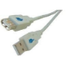 Microconnect USB 2.0 A-A 0.1m M-F 0.1m USB A USB A Grey USB cable