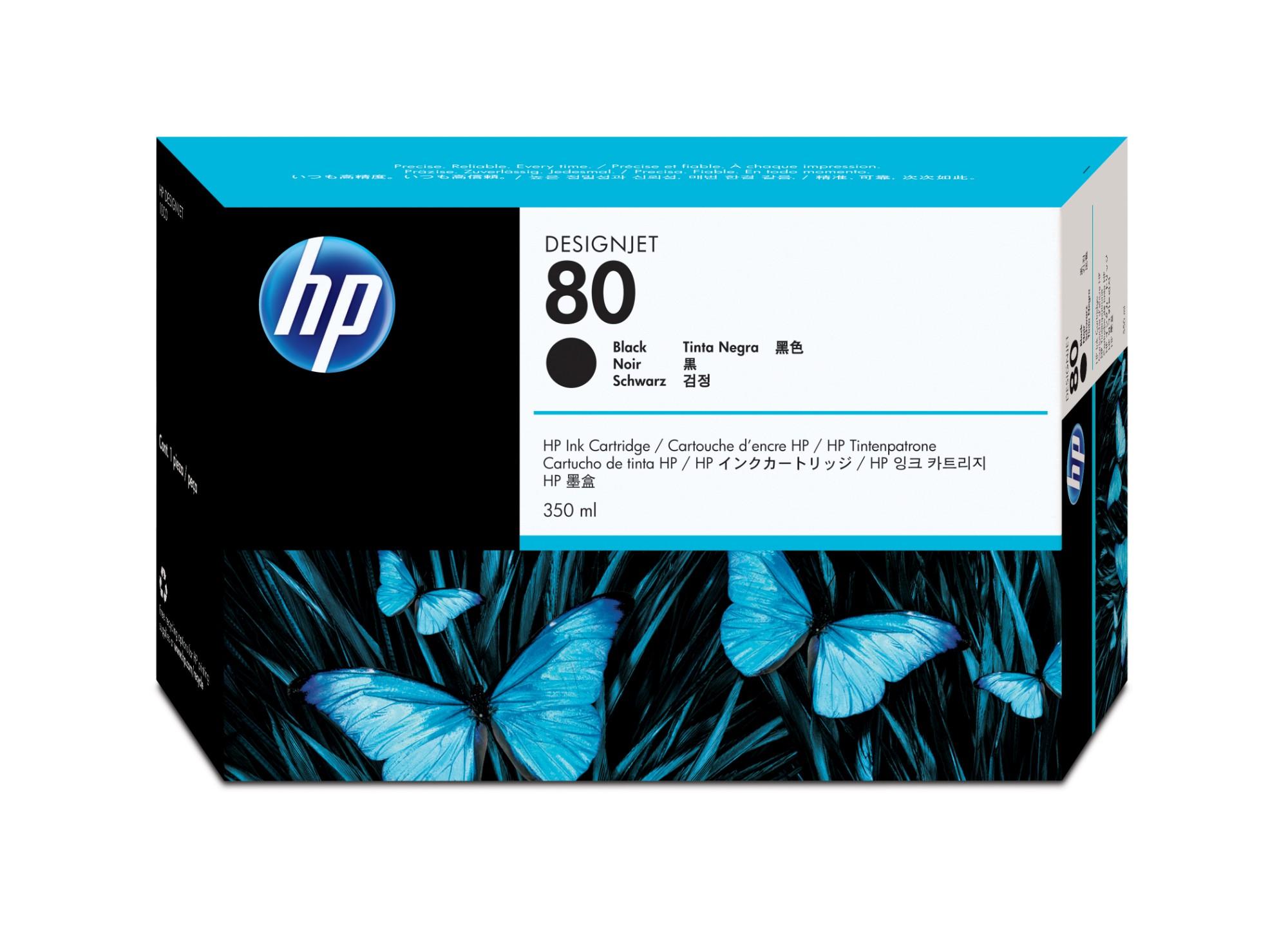 HP 80 Origineel Zwart