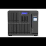 QNAP TVS-h1688X NAS Tower Ethernet LAN Black W-1250 TVS-H1688X-W1250-32G/192TB-EXOS