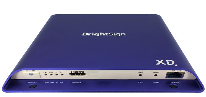 BrightSign XD234 Standard I/O Player LED 4K Ultra HD Blue