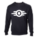 FALLOUT 4 Adult Male Vault Tech Logo Crew Neck Sweater, Small, Black (SW340003FOT-S)