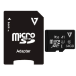 V7 64GB UHS-3 V30 A1 Micro SDXC Card + Adapter