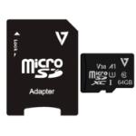 V7 VFMSD64GV30U3-3E flashgeheugen 64 GB MicroSDXC Klasse 10 UHS-I