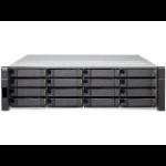 QNAP ES1640dc E5-2420V2 Ethernet LAN Rack (3U) Zwart NAS