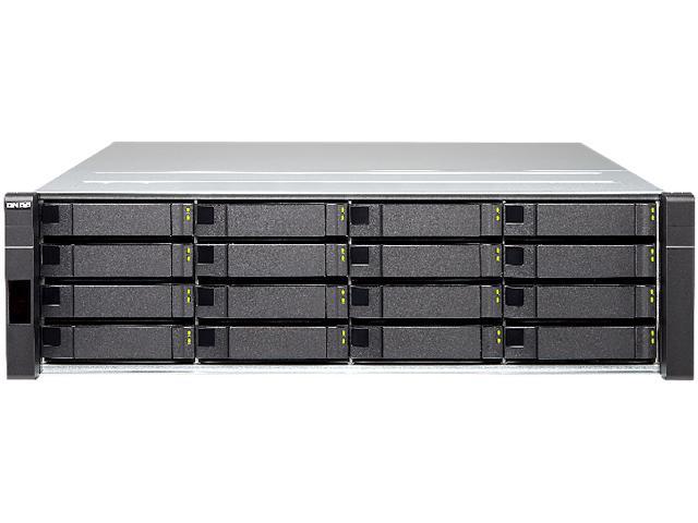 QNAP ES1640dc NAS Rack (3U) Ethernet LAN Black
