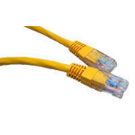 Cables Direct Cat5e UTP 1m networking cable Yellow