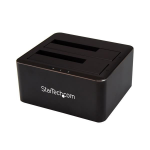 "StarTech.com Dual-Bay SATA HDD Docking Station for 2 x 2.5/3.5"" SATA SSDs/HDDs - USB 3.0"