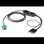 """Aten CV190 KVM cable Black 70.9"""" (1.8 m)"""