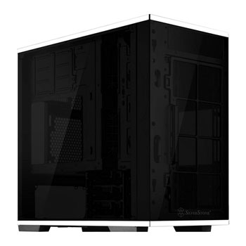Silverstone Lucid LD01B Micro-ATX Case - Stainless Steel & Tempered Glass