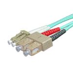 Cablenet 3m OM4 50/125 LC-SC Duplex Aqua LSOH Fibre Patch Lead