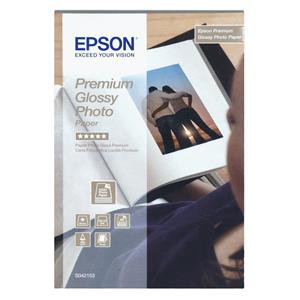 Epson Premium Glossy Photo Paper, 130 x 180 mm, 255g/m², 30 Sheets C13S042154