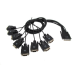 Digi 76000529 DB-9 8 x DB-9 Black cable interface/gender adapter