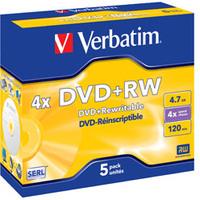DVD+rw Media 4.7GB 4x Datalife Plus 5-pk With Jewel Case