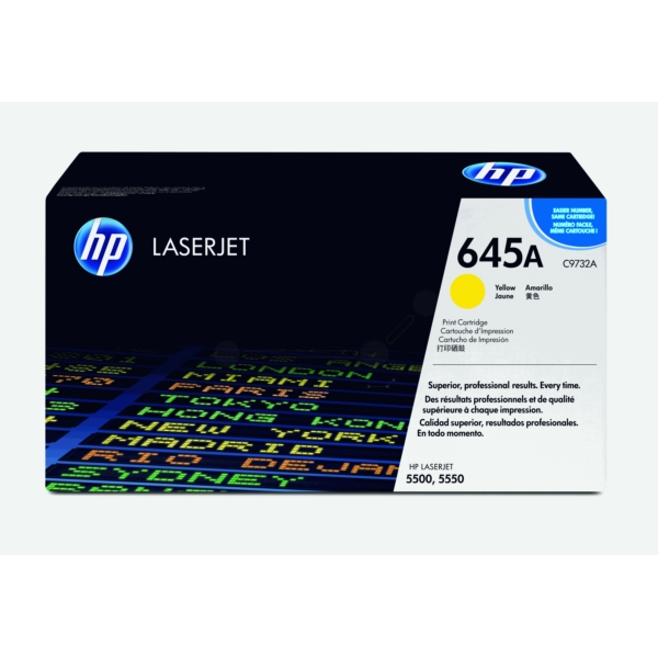 HP C9732A (645A) Toner yellow, 12K pages @ 5% coverage