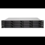 QNAP TS-1263XU-RP GX-420MC Ethernet LAN Rack (2U) Aluminum, Black NAS