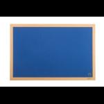 Bi-Office Earth-It Executive Blue Felt Noticeboard Oak Wood Frame 1200x1200mm DD