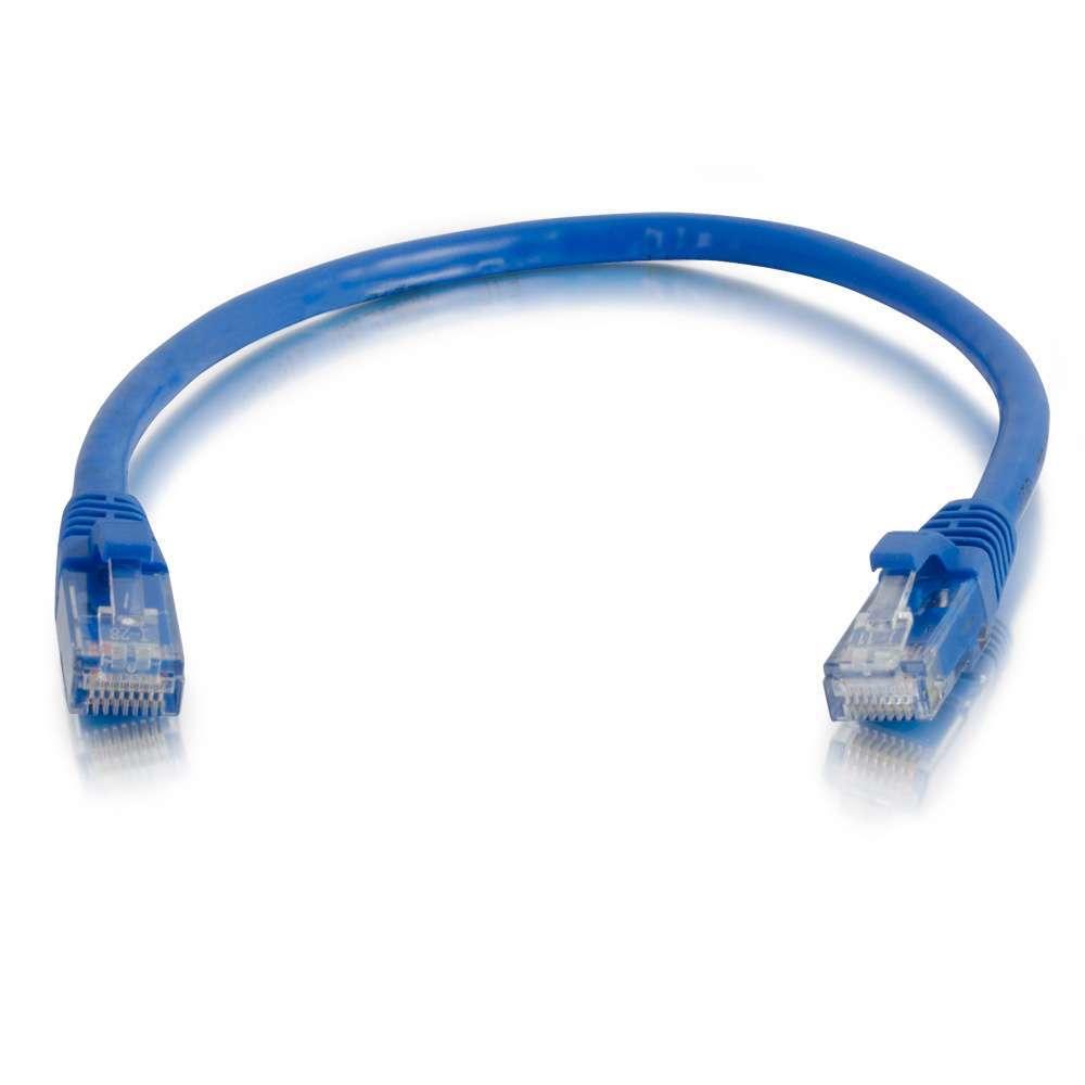C2G Cable de conexión de red de 0,3 m Cat5e sin blindaje y con funda (UTP), color azul