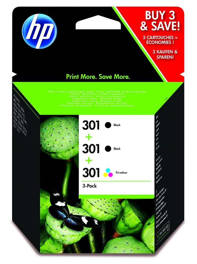 HP E5Y87EE (301) Printhead multi pack, Pack qty 3