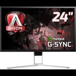 AOC AGON 1 AG241QG PC Flachbildschirm 61 cm (24 Zoll) 2560 x 1440 Pixel Quad HD LED Schwarz, Rot