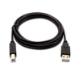 V7 Cable USB negro con conector USB 2.0 A macho a USB 2.0 B macho 2m 6.6ft