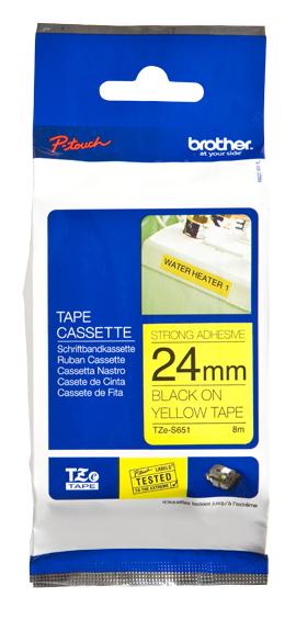 Brother TZeS651 cinta para impresora de etiquetas TZ