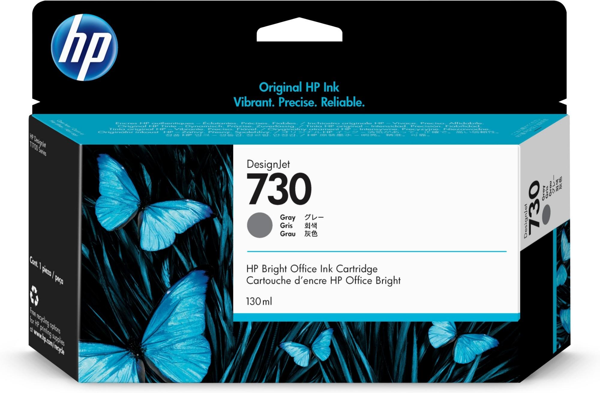 HP 730 Original Gris Rendimiento estándar