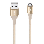 Belkin DuraTek 1.2m USB A Micro-USB B Gold USB cable
