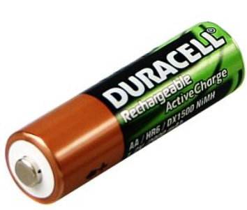 Duracell BUN0052A Nickel Metal Hydride 2400mAh 1.2V rechargeable battery