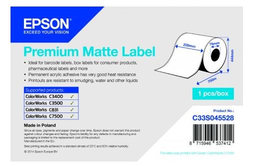 Epson C33S045528 White printer label