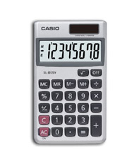 Casio SL-300SV calculator Pocket Display Silver