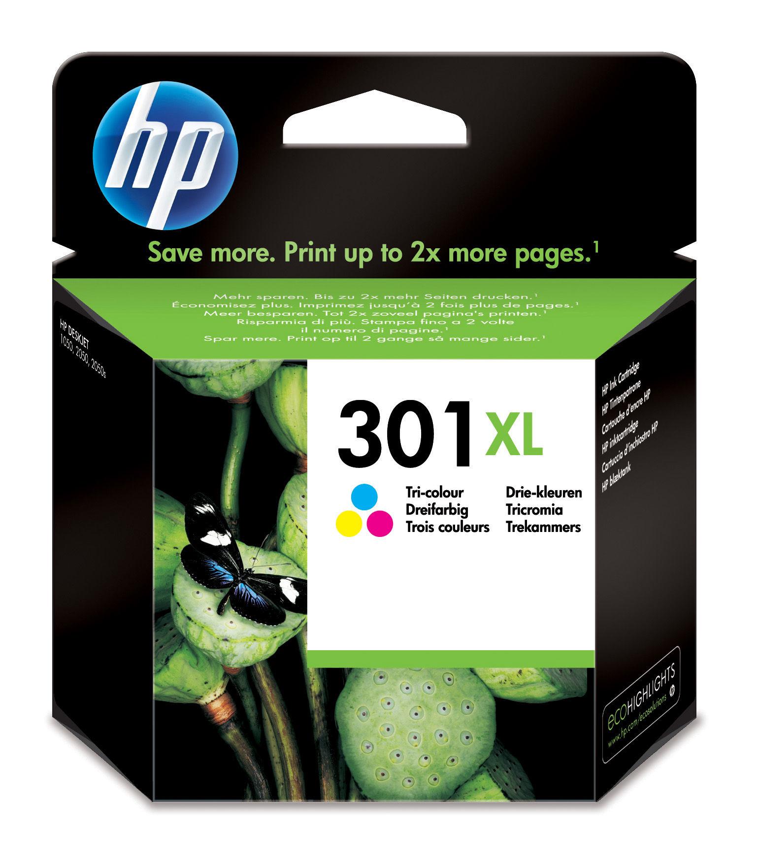 HP 301XL Origineel Cyaan, magenta, Geel 1 stuk(s)
