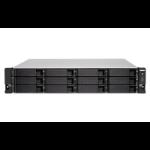 QNAP TS-1263XU-RP Ethernet LAN Rack (2U) Black NAS