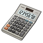 Casio MS-80B calculator Desktop Basic Silver