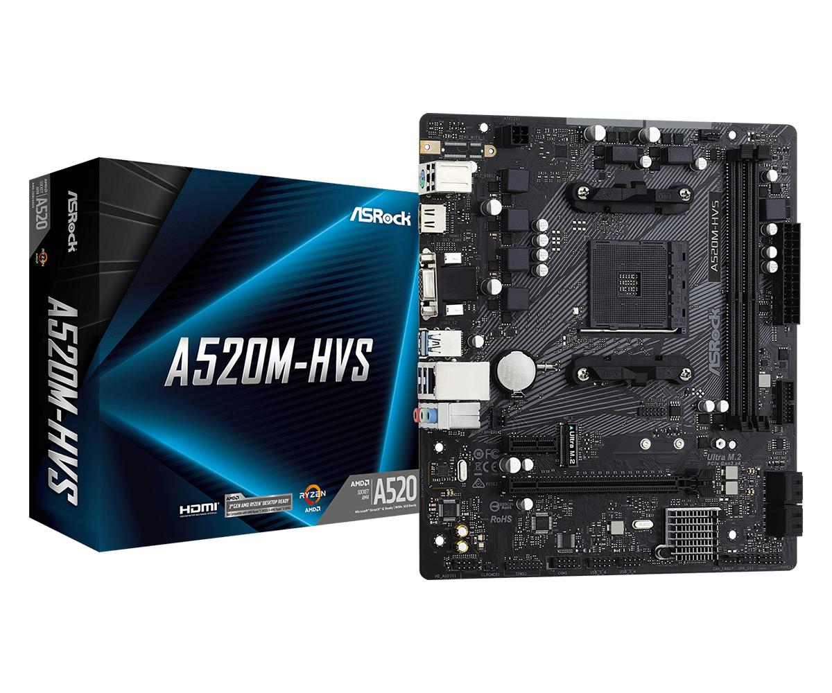 Asrock A520M-HVS Socket AM4 micro ATX AMD A520