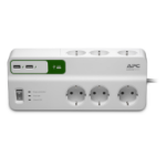 APC PM6U-GR limitador de tensión 6 salidas AC 230 V 2 m Blanco