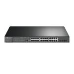 TP-LINK JetStream 24-Port Gigabit and 4-Port 10GE SFP+ L2+ Managed Switch with 24-Port PoE+